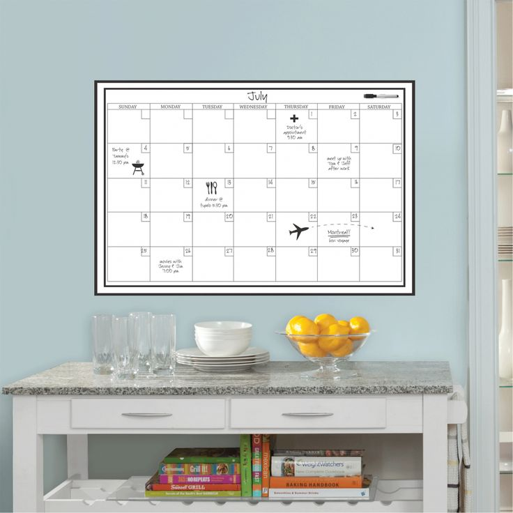 Feuille adhésive blanche planning mensuel