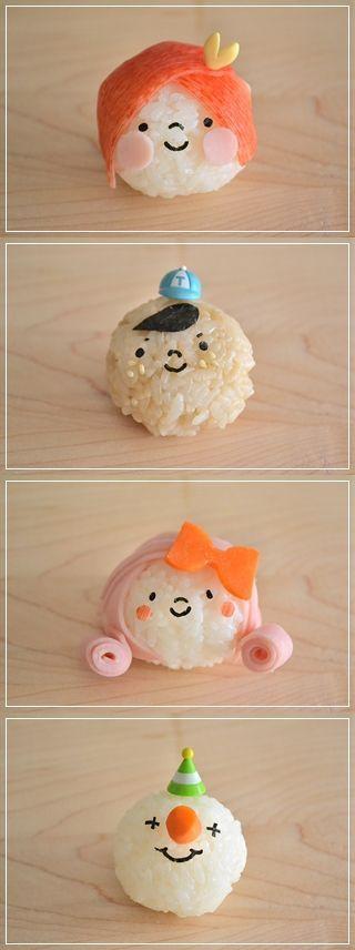 Onigiri, Japanese Rice Balls for Kids' Bento Lunch Box|キャラおにぎり
