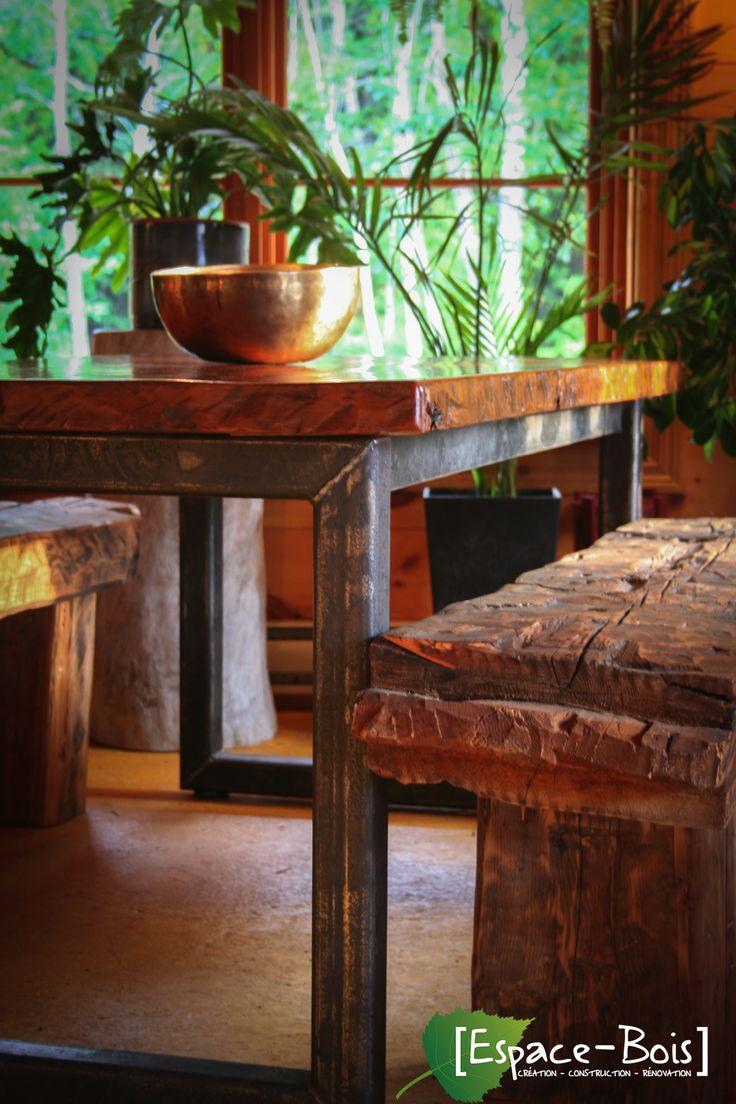 Table en bois de grange d co salle manger pinterest for Salle a manger grange