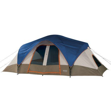 Wenzel Great Basin Blue and Taupe 8-Person Tent, ,18' x 10', White