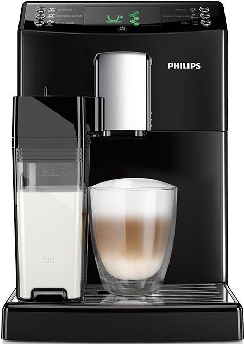 Philips HD8834/01  Philips 3100 HD8834/01: volautomatische espressomachine Deze Philips 3100 HD8834/01 geeft jou de heerlijke koffie ervaring waar jij elke ochtend naar verlangt! De volautomatische HD8834/01 is zeer eenvoudig te gebruiken. De 3100 HD8834/01 maalt jouw bonen met de 100% keramische molens en zorgt daarmee voor een perfecte espresso en cappuccino! De machine is voorzien van een intuitieve display en de knoppen op het voorpaneel geven je de mogelijkheid met één druk op de knop…