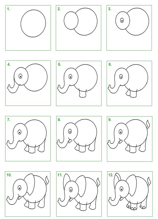 olifant tekenen - Google zoeken