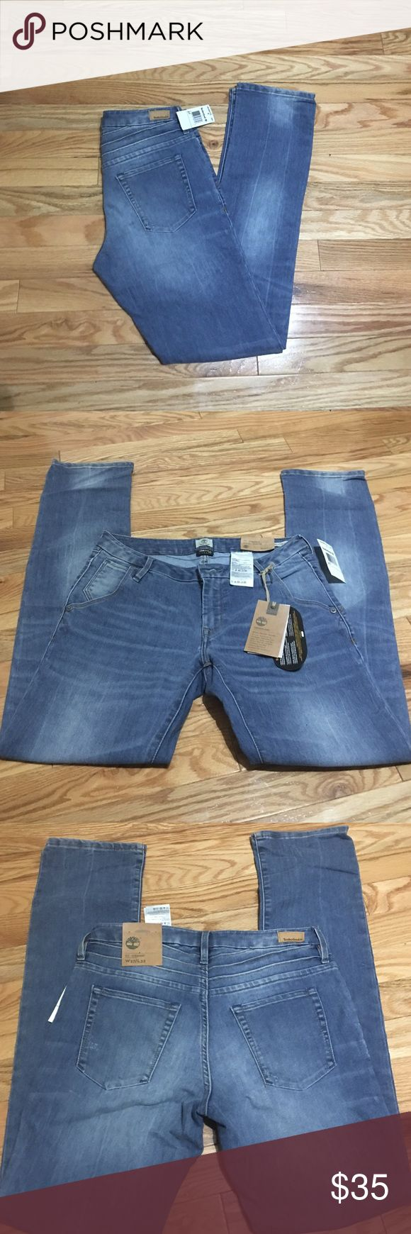 Timberland jeans BNWT Corsica Timberland jeans in meadow lake fit is strait size 27 inseam 32. BNWT Timberland Jeans Straight Leg