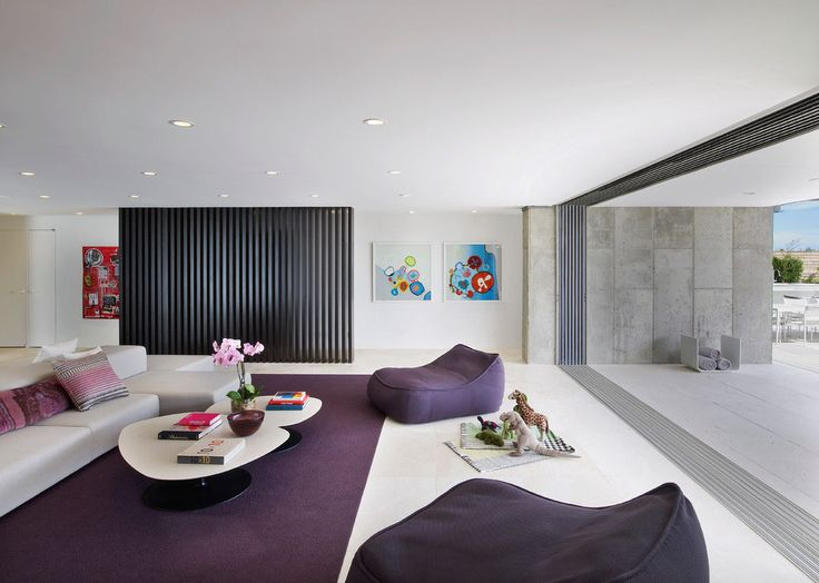 Interesting Purple Living Room Furniture Concept