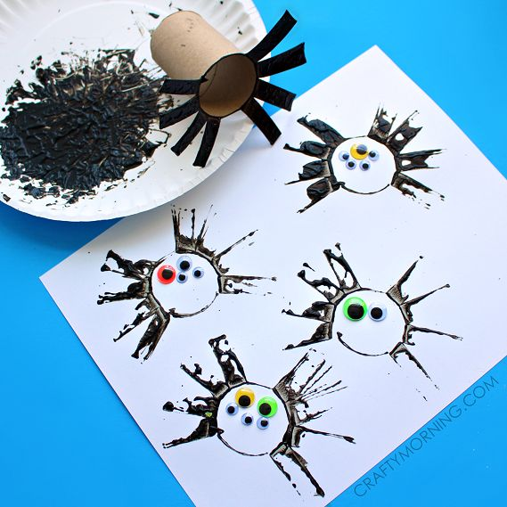 two toilet paper roll spider crafts for kids - Halloween Spider Craft Ideas
