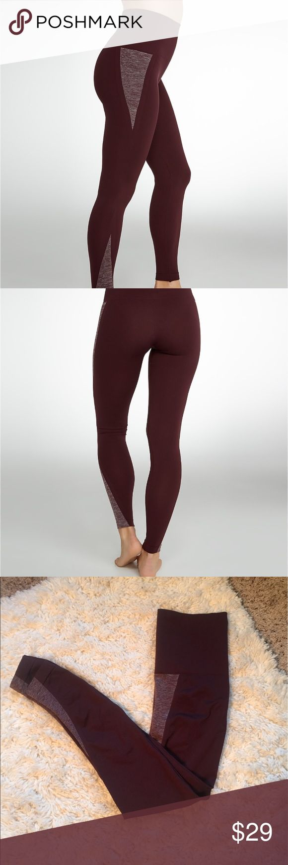 Spanx Red Hot Label Assets Heather Pop Leggings Flattering and super comfortable Leggings. Fall 2016 style sales sample, never worn. NWOT! Style # 20081R Color is pop burgundy size is Medium. See pictures for all measurements. Pet and Smoke Free! 92% Nylon 8% Spandex SPANX Pants Leggings