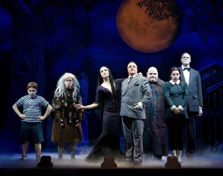 THE ADDAMS FAMILY Original Broadway Cast.  (Photo by Joan Marcus)