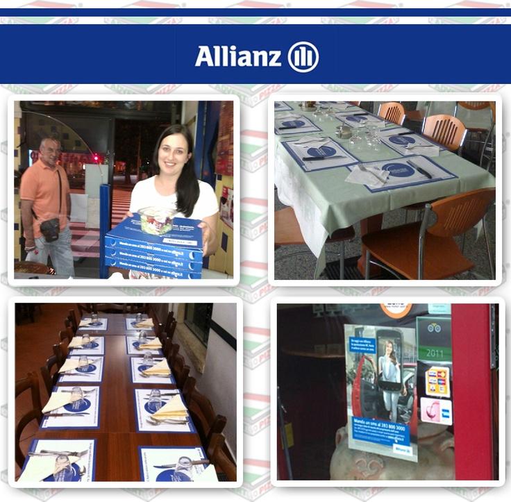 Case History personalizzazione pizzeria.  Campagna Allianz