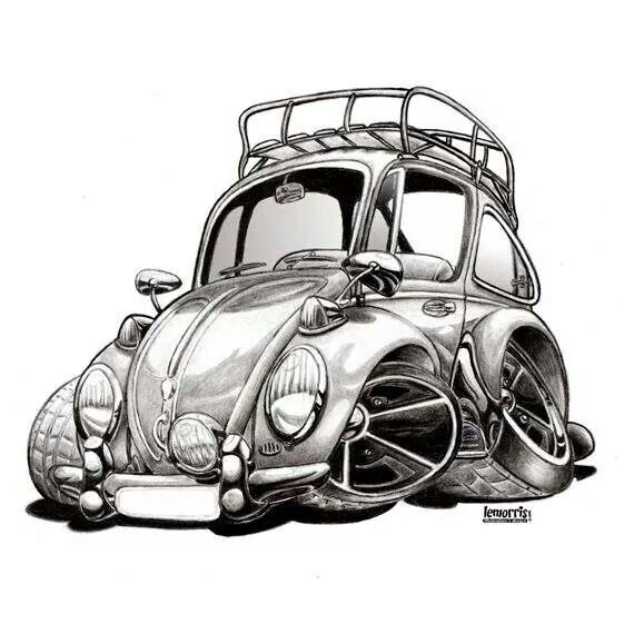 Volkswagen Beetle Retro 4k Hd Wallpaper: 58 Besten Vw Cartoon Bilder Auf Pinterest