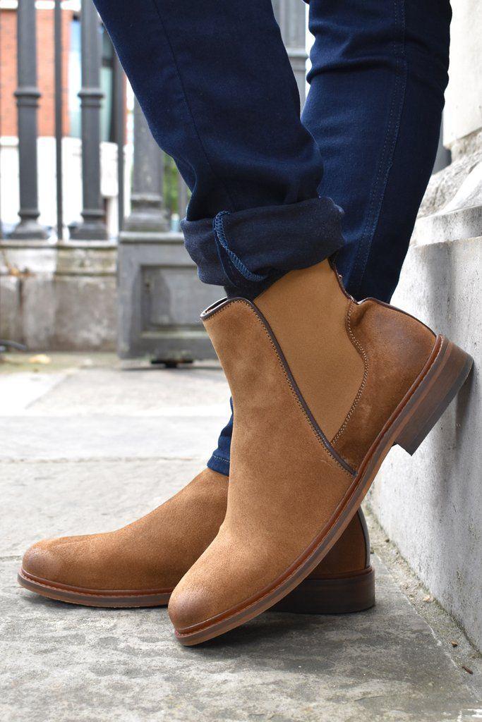 ec853361b051 Shoe The Bear Mens Wyatt Brown Suede Boots