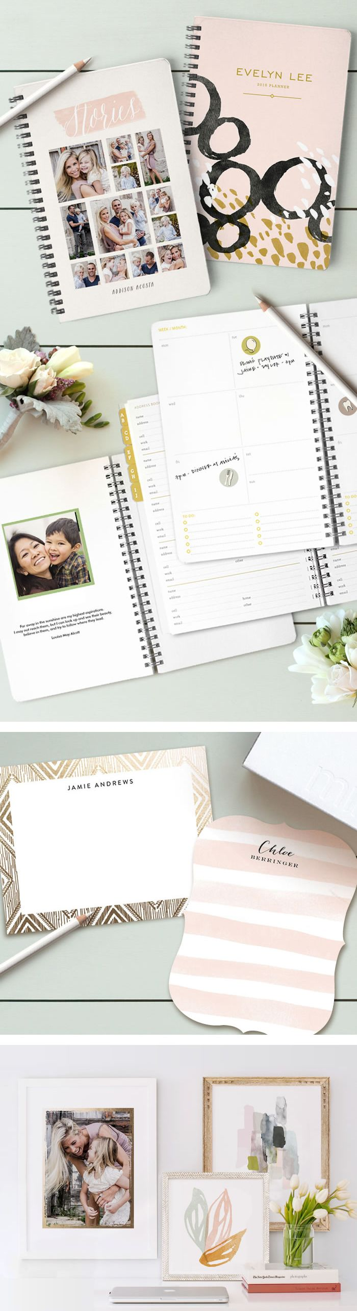 Holiday gifts for Mom from Minted featuring