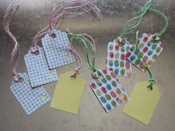 Spring/Easter Gift Tags 8 pack by LYHHandmadeGifts on Etsy