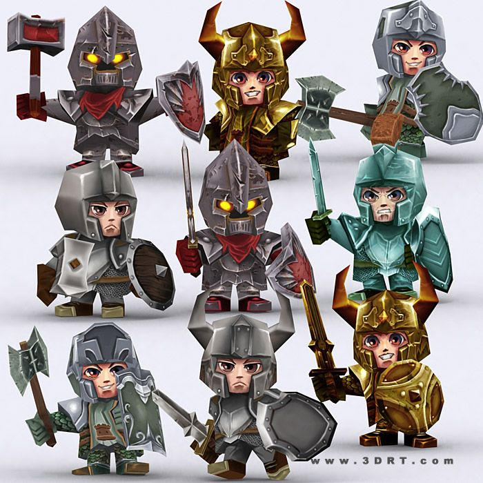 Characters :: Fantasy characters :: Chibi realm characters bundle -