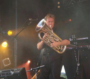 Don McGlashan performing with The Mutton Birds at the Classic Hits Winery Tour, Matakana, New Zealand
