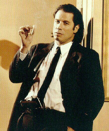 "Pulp Fiction   John Travolta as ""Vincent Vega"" in Pulp Fiction"
