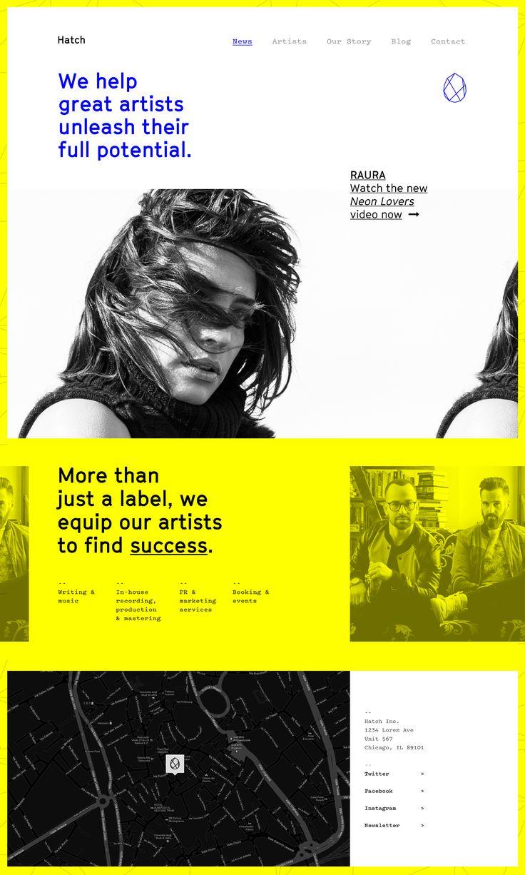 Hatch Music Label Website Landing Page #webdesign
