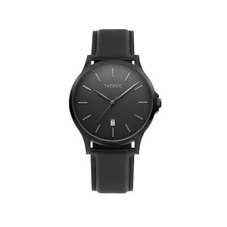 Reloj caballero TAYROC Black Leather. Negro  Infalible, elegante y seductor gracias a su total-black, con el que siempre acertarás. Su diseño sencillo con un aire casual son la respuesta a este increíble reloj analógico. Perfecto para cualquier hombre y cualquier estilo.