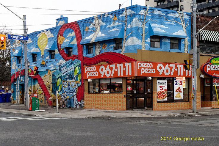 Pizza Pizza Mural Kingston Road and Victoria Park Toronto April 18, 2014