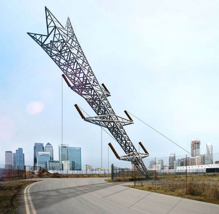 This Transmission Tower Sculpture Looks Insanely Precarious