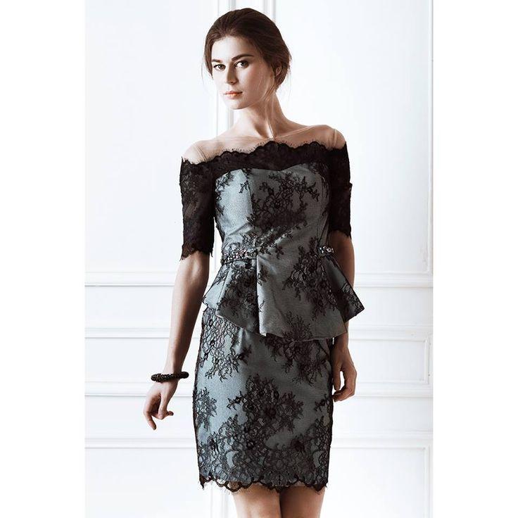 Andrea Dress in Midnight Black