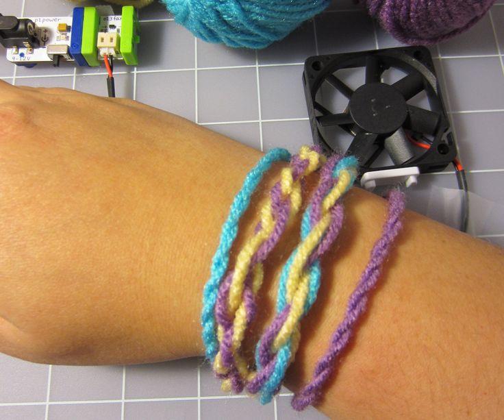 littleBits Easy Yarn Bracelets