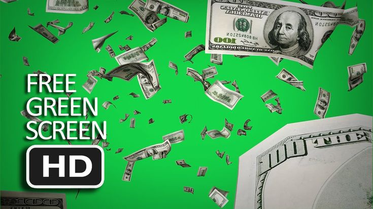 Free Green Screen - Falling Dollars