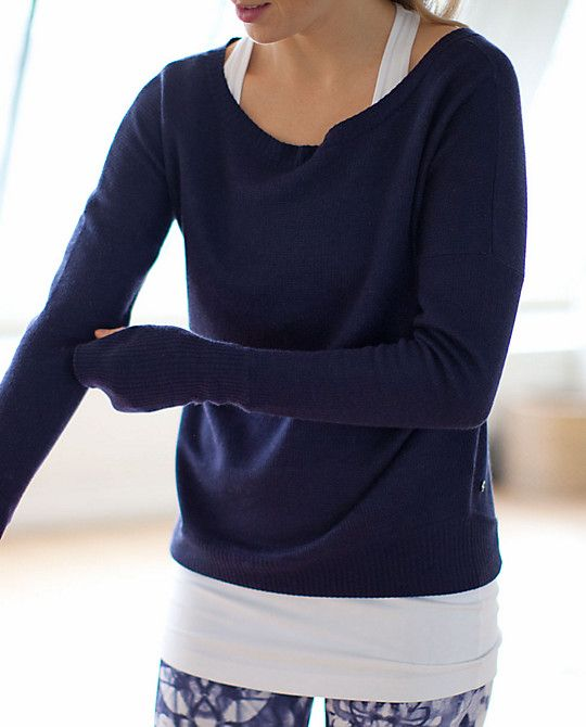 Lululemon Yin Me Pullover -got it in dune, but navy looks so pretty