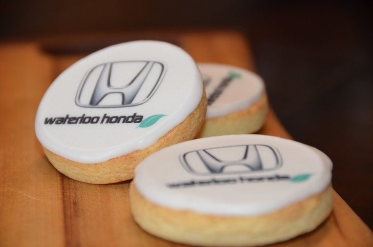 Waterloo Honda Corporate custom logo cookies made by Nom Nom Treats