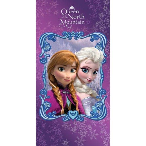 Frost badehåndklæde med søstrene Anna og Elsa