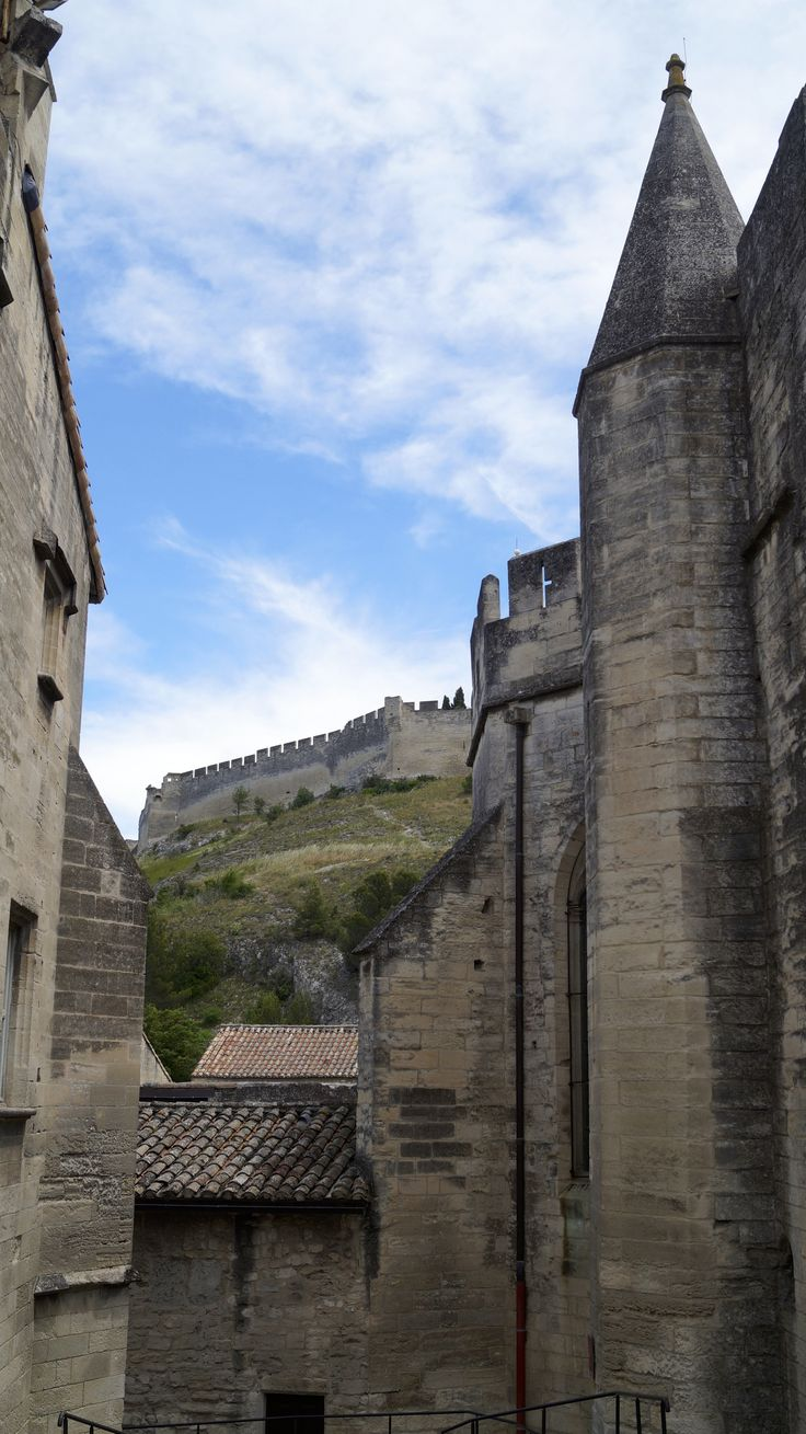 A walk through Chartreuse de Villeneuve lez Avignon with a picture looking up to Fort Saint-Andre. Our day and lunch with some nice wine was a highlight.