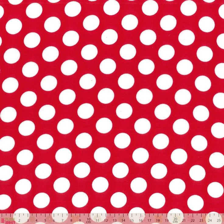 Poplin Large Spots On Red - cotton fabric
