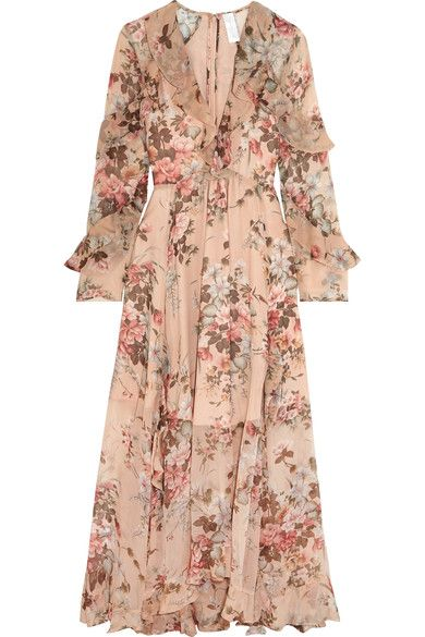 Zimmermann Aerial ruffled floral-print silk georgette dress