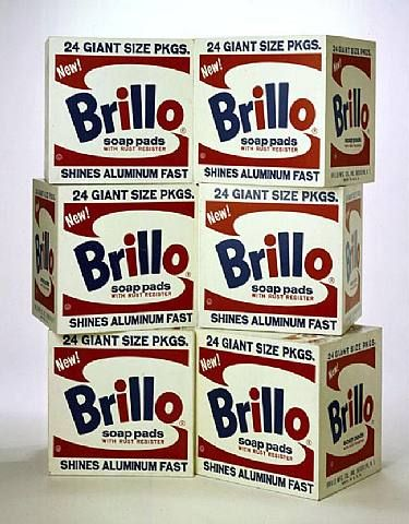Andy Warhol, Brillo Boxes, acrylic and silkscreen on wood, 20 x 20 x 17 in., 1969