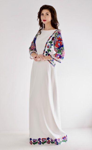 3b38915022d681 Дизайнерська сукня з вишивкою гладь,бавовняними нитками. Оригінальний  шедевр від Оксани Полонець. Всі розміри виготовимо під замовле…