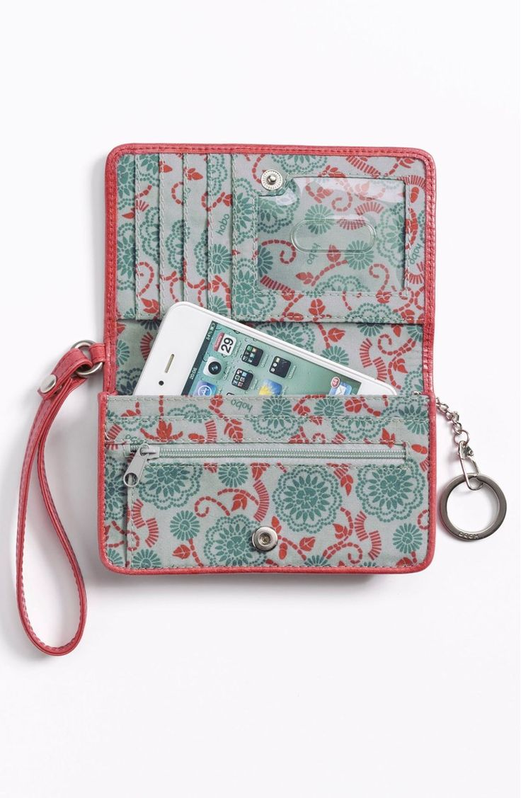 Free shipping and returns on Hobo 'Ally' Phone Wristlet at Nordstrom.com. A compact wristlet wallet coated with fresh finish fits cards, cash and a cell phone in one handy package.