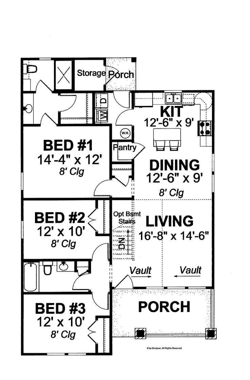 Small house plans open floor idea dream home designs
