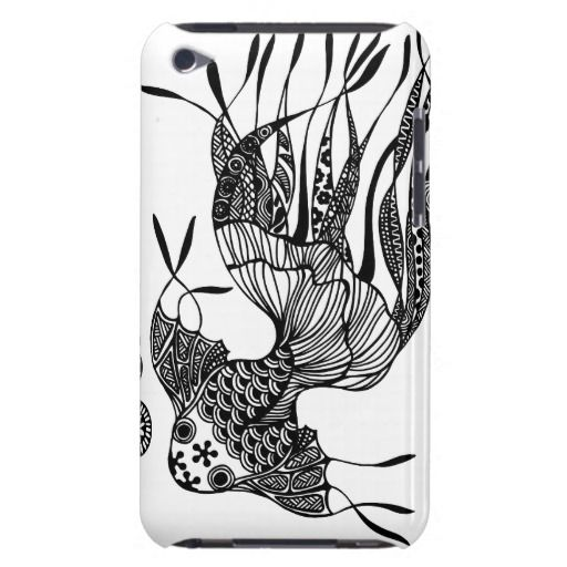 Gold fish #1 hand drawn art iPod case iPod Touch Case