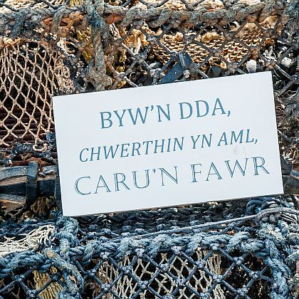 Welsh 'Live, Laugh, Love' ~ Byw, Chwerthin, Caru Sign