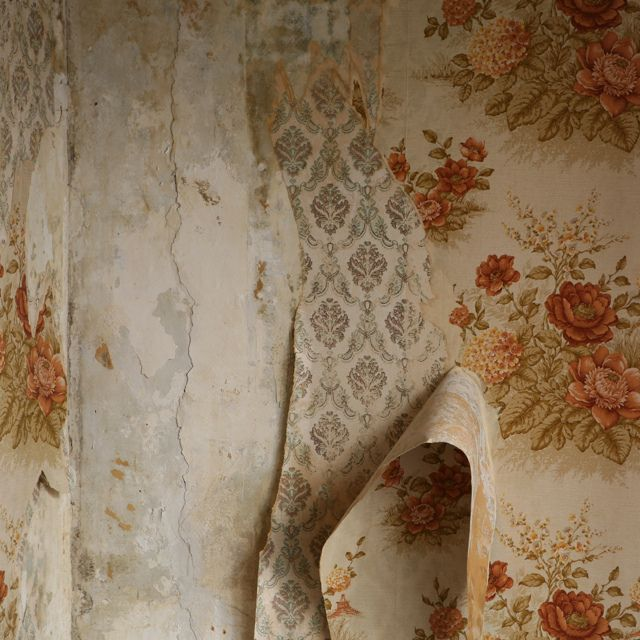 um i have four layers of old wallcovering too... and they look nothing like these gorgeous patterns! #whatweretheythinking :)