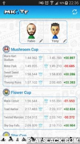 MK8TT  Android App - playslack.com , Get a complete sum up of your Time Trials in Mario Kart 8!With MK8 TT you can compare your best times with friends. Who is first? - Times Trials for each cup, each race, - To get your latest times, you need to upload your ghost online, - The 2 DLC cups are added in the list,- Total number of winning races.It is the first version of the app, if you see some bugs, you can report it by email.