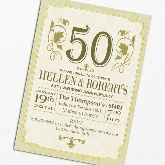 50th Wedding Anniversary Invitation Ideas: 109 Best Images About 50th Anniversary Ideas On Pinterest