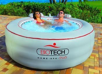 Portable hot tub! Yup this is what I'm saving up for! They sell them online at Brookstone!