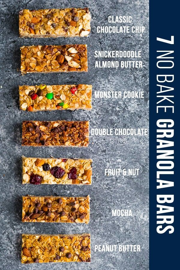 7 Homemade Granola Bars