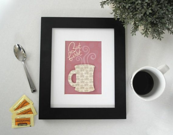 3D Coffee Art, But First Coffee, Kitchen Art Print, Coffee Art Kitchen, Coffee Artwork, Kitchen Coffee Art, Coffee Lover Decor, Coffee Sign