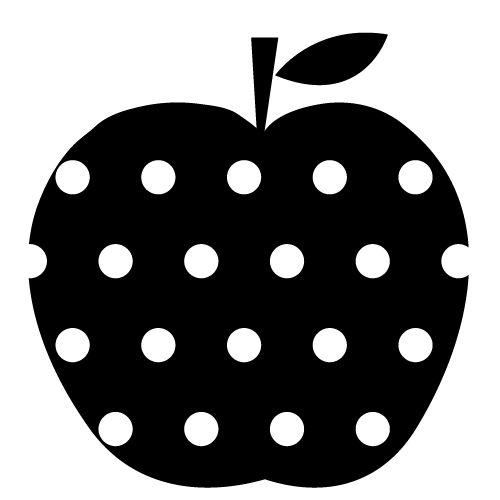 Gabarit pomme pour transfert couture