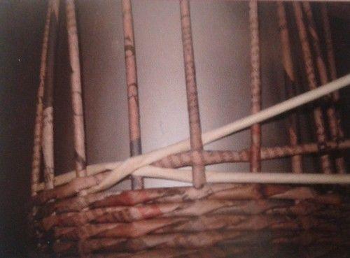 Diamantová vazba - křížky :: Pletení z papíru Hanča Čápule