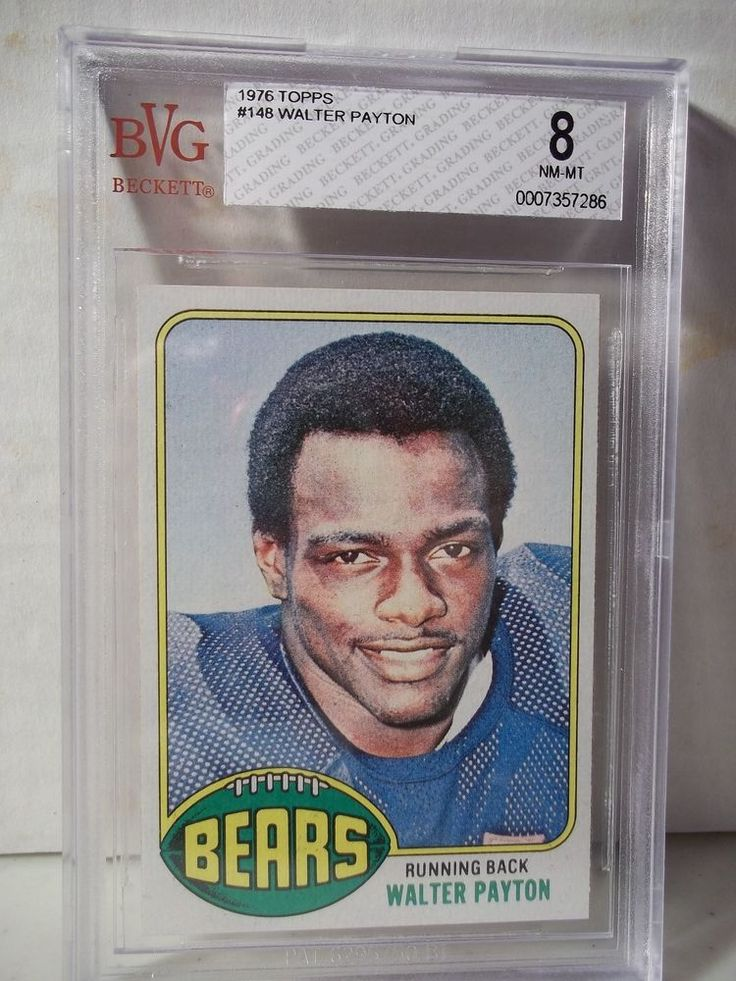 1976 Topps Walter Payton Rookie BVG NM-MT 8 Football Card #148 NFL HOF #ChicagoBears