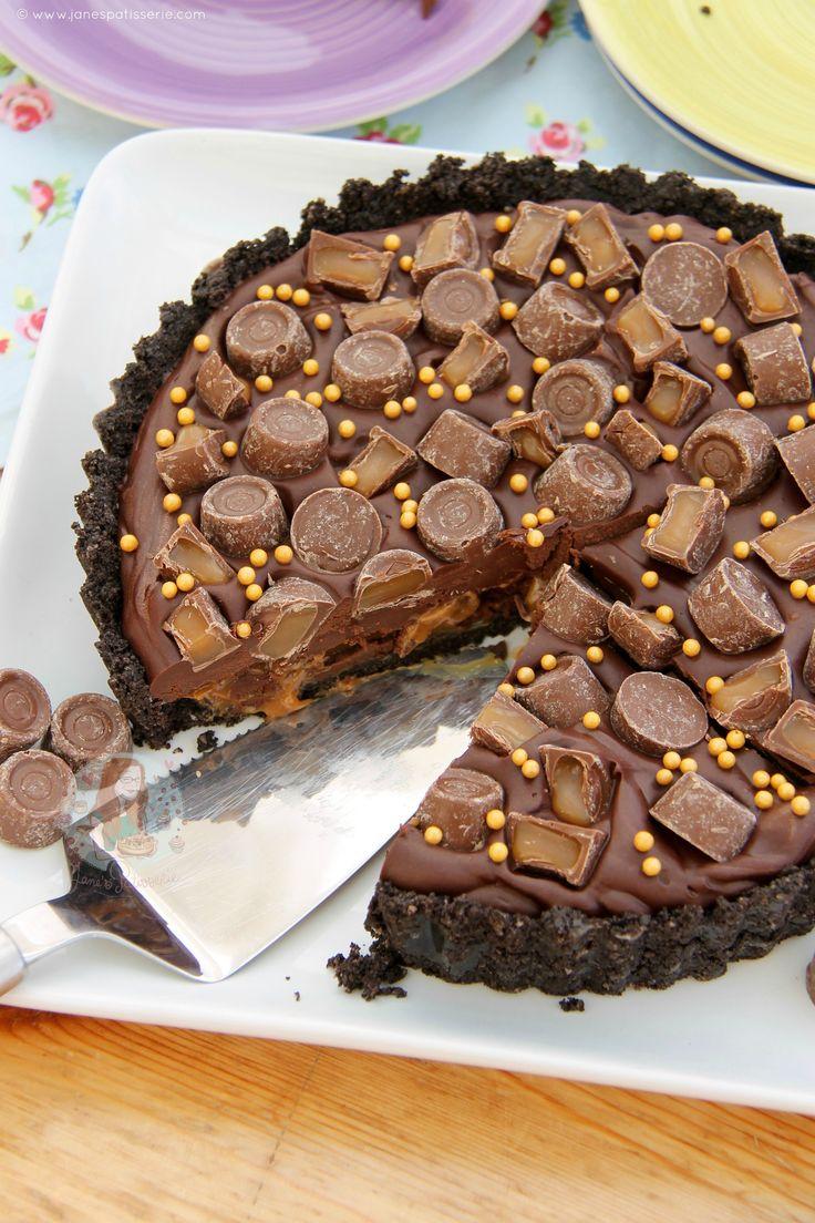 OH OH OH my word!! No BaKe Oreo Crust Chocolate Tart