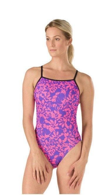 3fab65eaeedae NWT  70 Speedo Turnz Flowerista Endurance Lite Back One-Piece Swimsuit  Women s  Speedo  OnePiece