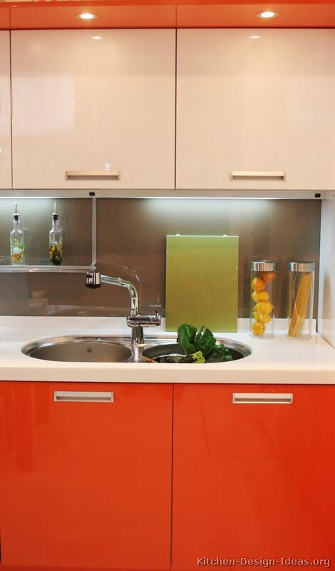 #Kitchen Idea of the Day: Could you live with a red/orange kitchen?